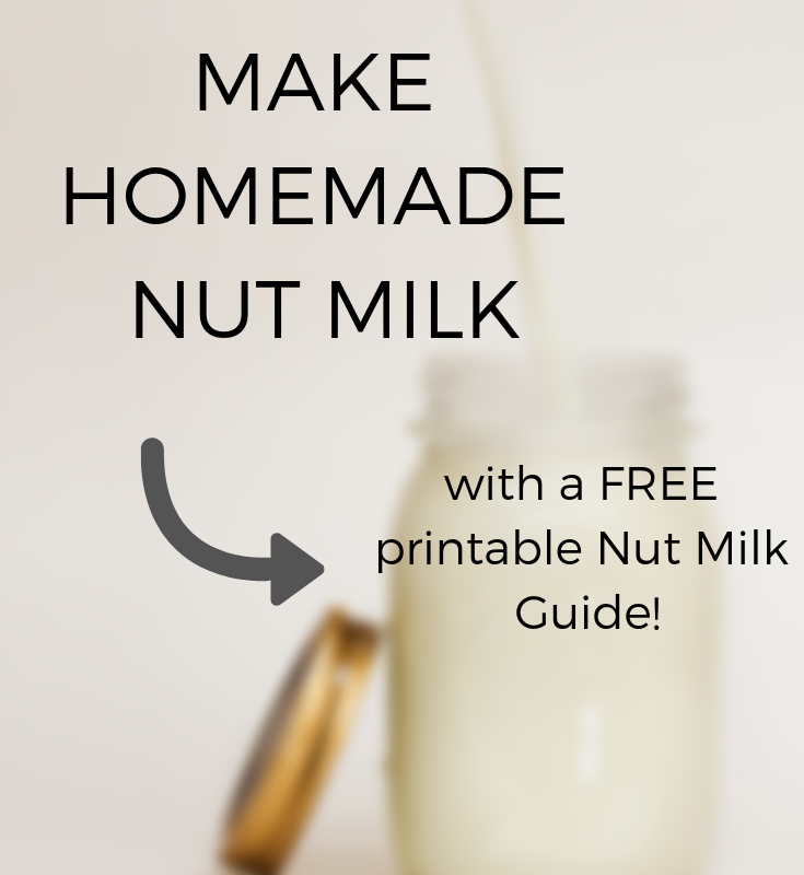 There are so many reasons to make your almond milk or nut milk at home! Click through to see tips, get recipe ideas, and get a FREE copy of my Nut Milk Guide!
