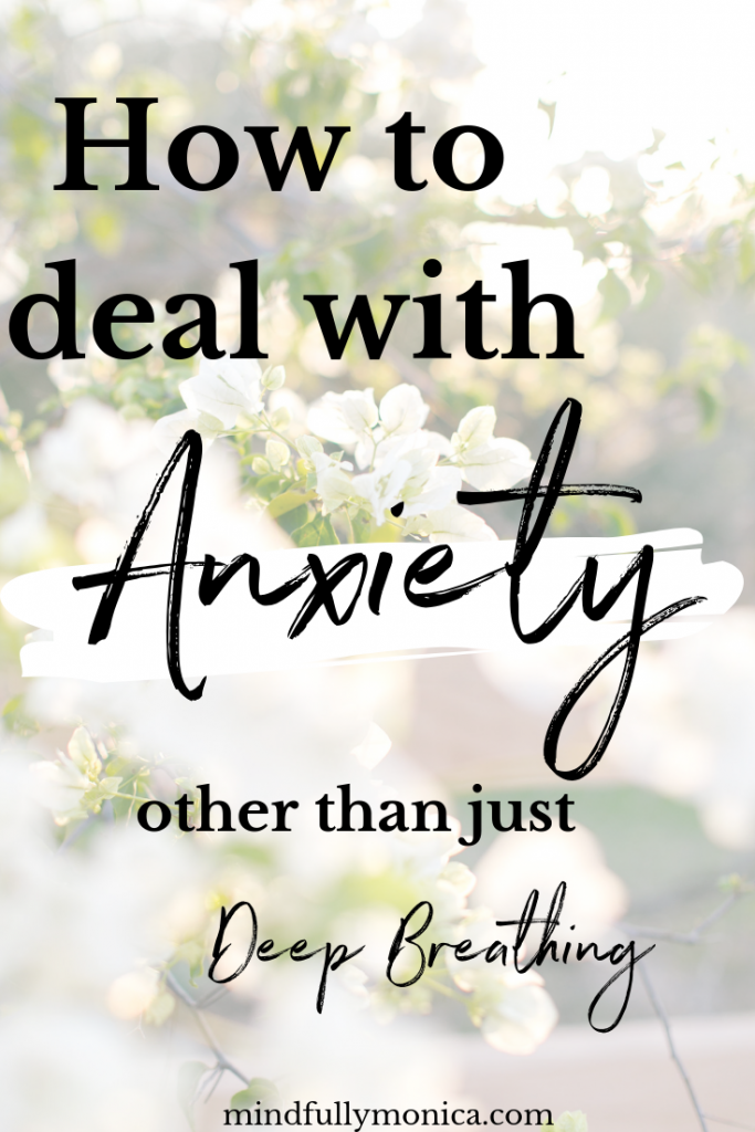 We all have anxiety, at least every once in a while. Nothing is more frustrating than when someone says, take some deep breaths. So here are my tips to deal with anxiety other than deep breathing. Click through to check out these tips and a free mind, body and soul 7 day challenge! #mentalhealth #anxiety #anxietytreatment #anxietytips #mentalhealthtips #mindfulness
