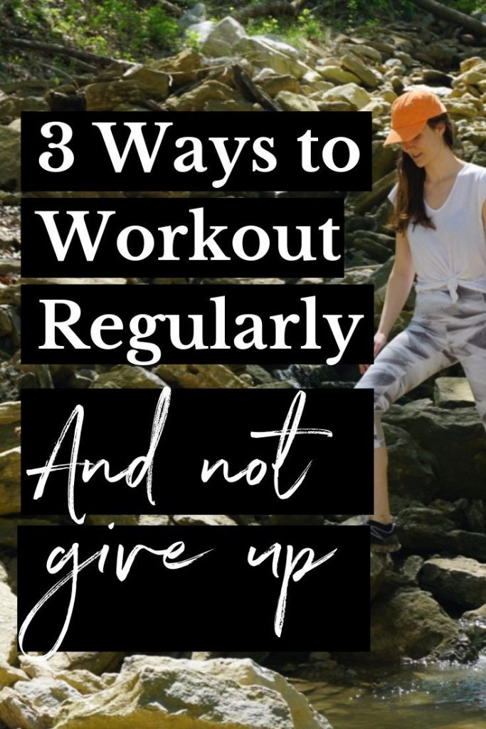 Have you ever tried to exercise or workout regularly and you stick with it for a week... then give up? Well, you're not alone! Click through to read my 3 tips to start working out regularly and find the workout motivation you need. #workoutideas #fitnesstips #wellness #howtostartworkingout