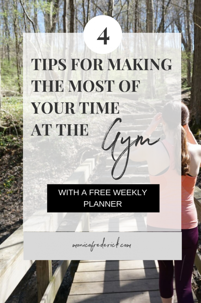 Walking into a gym for the first time sucks. BUT you can make it worth your time if you have a plan! Click through to read about how to create a workout plan to maximize your time at the gym. Make sure to grab my free weekly planner, too! #fitness #fitnesstips #gymtips