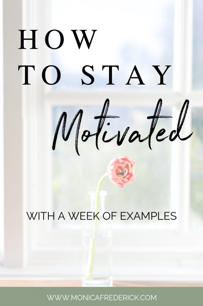 Sometimes we get started on a goal or project and lose motivation. If this is you, click through to read my tips on how to stay motivated, journaling to keep your motivation and a bonus tip on how to keep a stress free living space. #inspiration #goalsetting #motivating #impostersyndrome #motivationeveryday