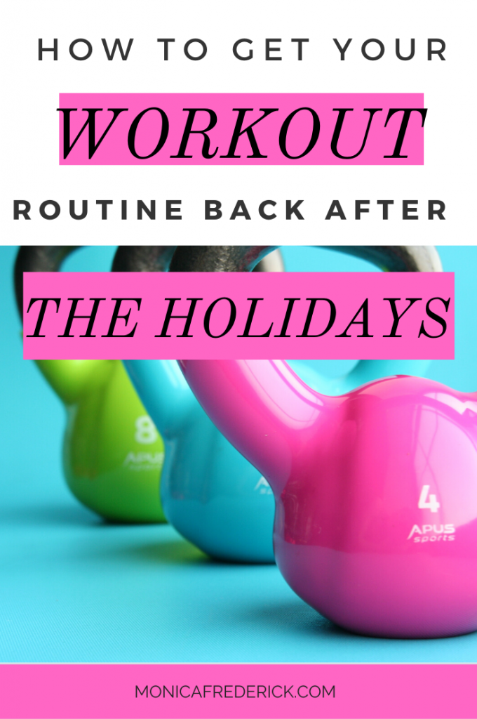 If you want to get back into a healthy fitness routine after the holidays, then you're in the right place! Click through for my tips to be able to ease yourself back into working out after the holidays. #gymroutine #workoutideas #REGULAREXERCISE