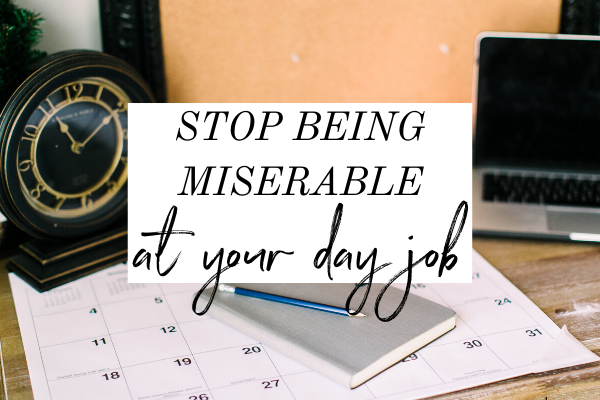 Being miserable at your day job sucks, I know, but you don't have to be. In this episode of Monica Chats, learn what two things to do to change your out look on your job. | career advice | career planning | career change | side hustle | finding your purpose | side hustle motivation | job burnout