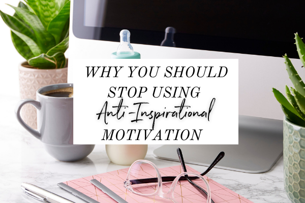 If you're looking for how to find motivation, it's so important to make sure what you choose to motivate you also inspires you.  Click through to check out the latest episode of Monica Chats where we go into why using anti-inspirational motivation is the quickest way to burnout.