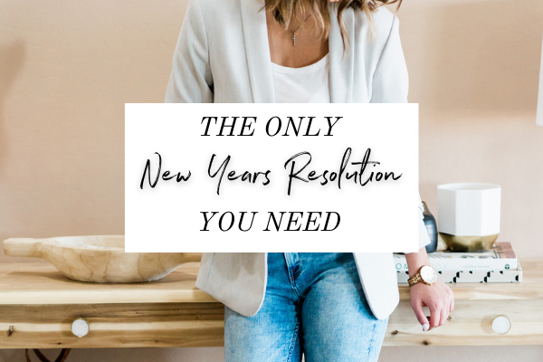 """I'm talking about the ONLY New Years Resolution you need to set and keep for yourself: only doing things that are true to who you really are (not who you think you should be or what you're expected to be).  Essentially, we're talking about how having """"live authentically"""" is the only goal you need to set because it will help you take the necessary actions to improve your life in all the ways you truly want."""