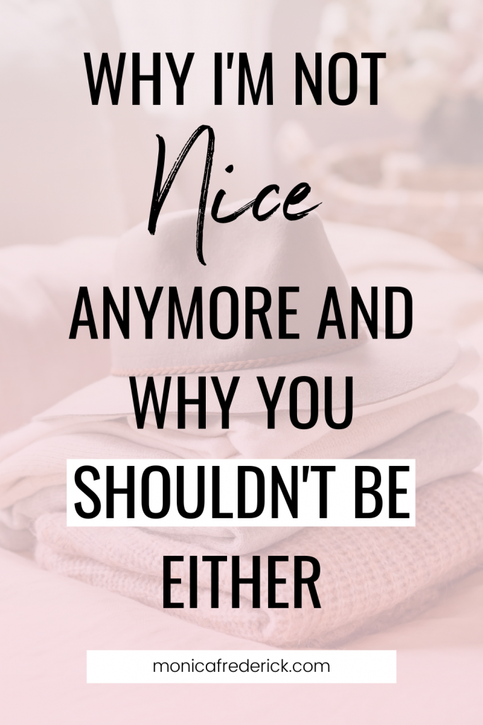 With a new year comes a few changes and this podcast is one of them! Welcome to the newest version of the podcast, NOT A NICE GIRL. In it, we're talking all about dropping labels and self-doubt that keeps you stuck and living authentically.  In this episode, I'm chatting with you about how I used to pride myself on being a nice girl and what I sacrificed in order to do so. I'm also talking about what the word means and how it's been holding you back from living with kindness and dreaming big.  In this episode, I'm talking about the difference between nice and kind and how that affects people-pleasing.